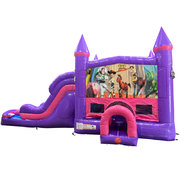 Toy Story Dream Double Lane Wet/Dry Slide with Bounce House