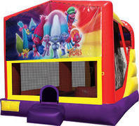 Trolls 4in1 Inflatable bounce house combo