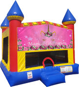 Unicorn Magical Inflatable bounce house with Basketball Goal
