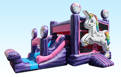 3 in 1 Unicorn inflatable combo Bounce House rental