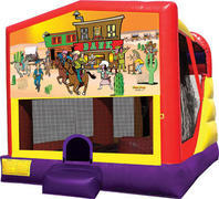 Western 4in1 inflatable bounce house