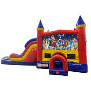 World of Disney Double Lane Water Slide with Bounce House