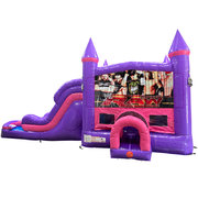 Wrestling Dream Double Lane Wet/Dry Slide with Bounce House
