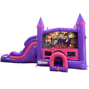 Yu-Gi-Oh Dream Double Lane Wet/Dry Slide with Bounce House