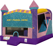 A 4in1 Dazzling Dream Inflatable Bounce House Combo