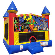 Halloween Inflatable bounce house with Basketball Goal