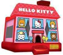 A Hello Kitty Inflatable Bounce House
