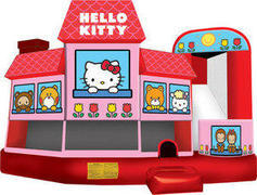 A-Hello Kitty 5in1 Inflatable bounce house
