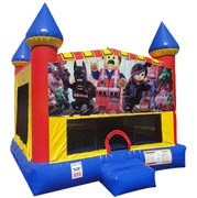 LEGOs Inflatable bounce house with Basketball Goal