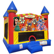 Lilo & Stitch Inflatable bounce house with Basketball Goal