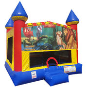 Lion King Inflatable bounce house with Basketball Goal