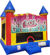 LOL Inflatable bounce house with Basketball Goal