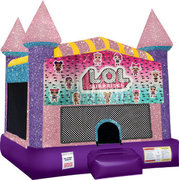 LOL bounce house with Basketball Goal Pink