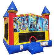 Looney Tunes Inflatable bounce house with Basketball Goal