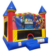 Super Mario Brothers Inflatable bounce house with Basketball Goal