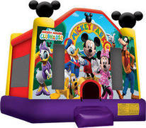 A Mickey Mouse Club Inflatable Bounce House