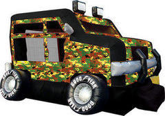 A Monster Truck Inflatable Bounce House Camo