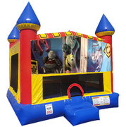 Monsters Inc.Inflatable bounce house with Basketball Goal