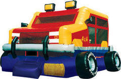 A Monster Truck Inflatable bounce house
