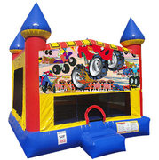Monster Truck (1) Inflatable bounce house with Basketball Goal