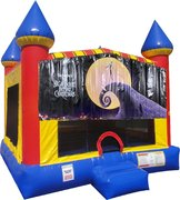 Nightmare Before Christmas Inflatable bounce house with Basketball Goal