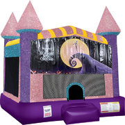 Nightmare Before Christmas Inflatable bounce house with Basketball Goal Pink