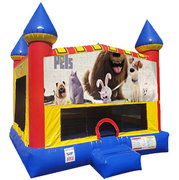 Secret Life of Pets Inflatable bounce house with Basketball Goal