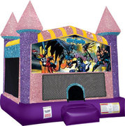 Batman Inflatable bounce house with Basketball Goal Pink