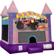 Blaze Inflatable bounce house with Basketball Goal Pink