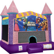 Super Mario Brothers Inflatable Bounce house with Basketball Goal  Pink