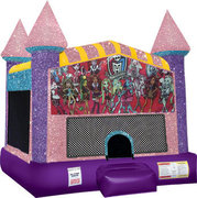 Monster High bounce house with Basketball Goal Pink