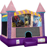 Monsters Inc. Inflatable bounce house with Basketball Goal Pink