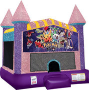 Pokemon Bounce house with Basketball Goal (pink)