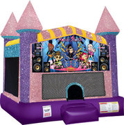 Rock Stars Inflatable bounce house with Basketball Goal Pink