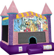 Scooby Doo Inflatable moonwalk with basketball goal pink