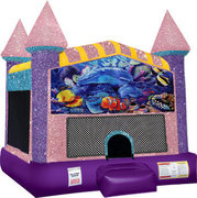 Under the Sea Bounce house with Basketball Goal(pink)