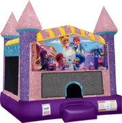 Shimmer and Shine Bounce house with Basketball Goal (pink)