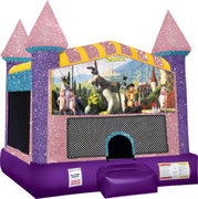 Shrek Inflatable bounce house with Basketball Goal Pink