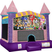 Sonic Bounce house with Basketball Goal (pink)