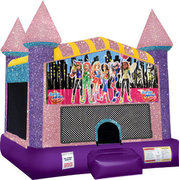 Super Girls Bounce house with Basketball Goal(pink)