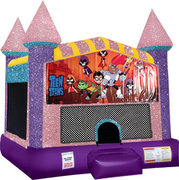 Teen Titans Bounce house with Basketball Goal (pink)