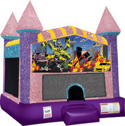 Trans Bots Inflatable bounce house with Basketball Goal Pink