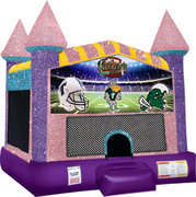 Tulane Inflatable bounce house with Basketball Goal Pink