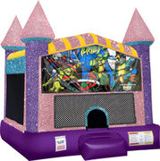Ninja Turtles Inflatable Bounce house with Basketball Goal Pink