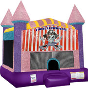 Pirates Adventure Inflatable bounce house with Basketball Goal Pink