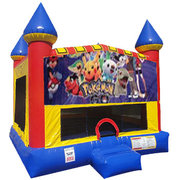 Pokemon Bounce house with Basketball Goal