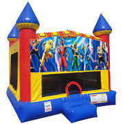 Power Rangers Inflatable bounce house with Basketball Goal