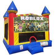 Roblox Inflatable bounce house with Basketball Goal