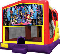 Rock stars inflatable 4in1 bounce house combo