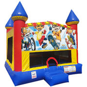 Rocket Power Inflatable bounce house with Basketball Goal
